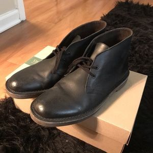 Clarks Black Leather Bushacre SZ 8